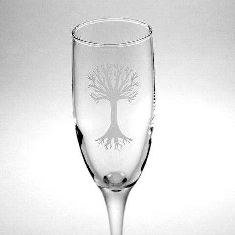 Tree champagne flute by Bread and Badger