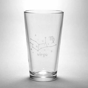 Virgo constellation pint glass by Bread and Badger