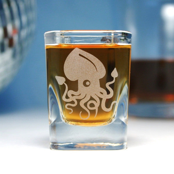 squid shot glasses