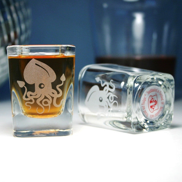 cute squid shot glasses