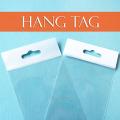 Many Sizes: Cello Bags: Hang Tab Tops; Self-Adhesive, Resealable