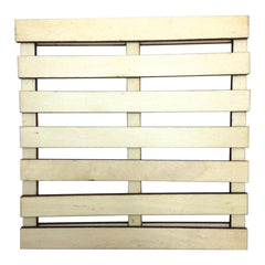 Art-C Mini Wood Slatted Pallet Art Surface; 6 x 6 Inches, for Mixed Media