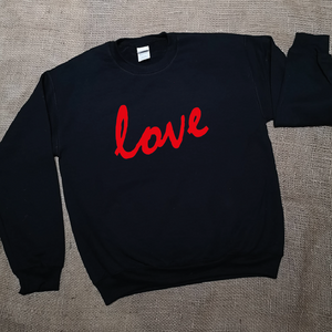 Cosy Round Neck Jumper with Love Design