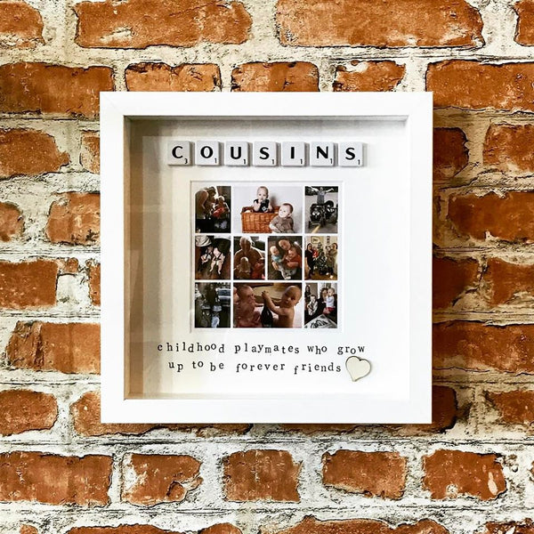 Cousins Scrabble Photo Frame