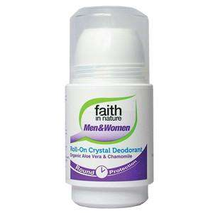 Faith in Nature 50ml Aloe Vera and Chamomile Roll On Deodorant