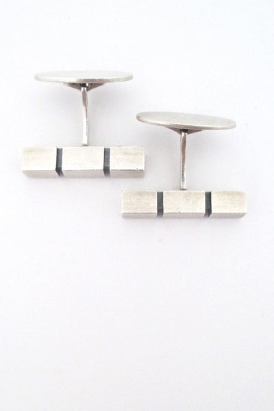 top Niels Erik From Denmark vintage Modernist silver cufflinks
