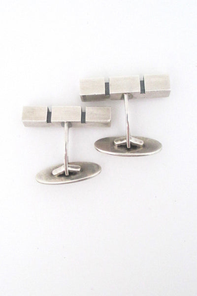 Niels Erik From modernist silver geometric cufflinks