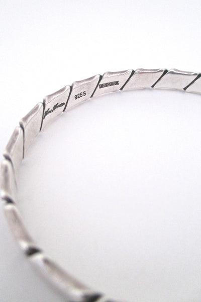 Hans Hansen folded silver bangle