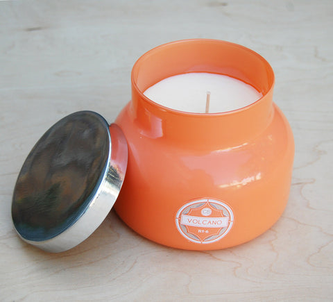 Sale Capri Blue Volcano Jar Candle : Coral