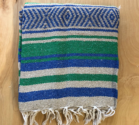 Mexican Blanket: Royal-Green