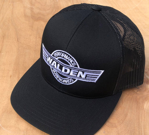 Performance Logo trucker: black