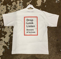 ONPOINT® DROP KNIVES - T-Shirt in White