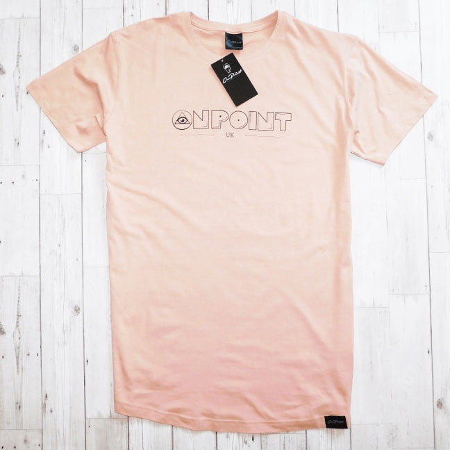 ONPOINT® Original - Curved Hem Longline T-Shirt in Rose