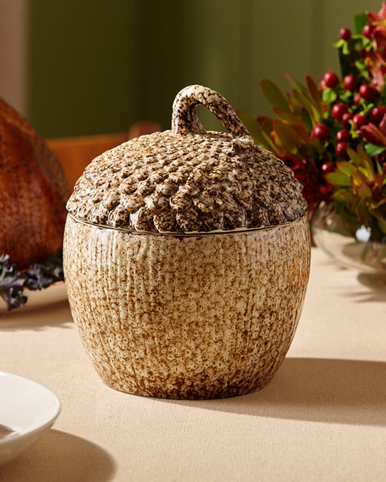 Acorn Covered Serving Dish