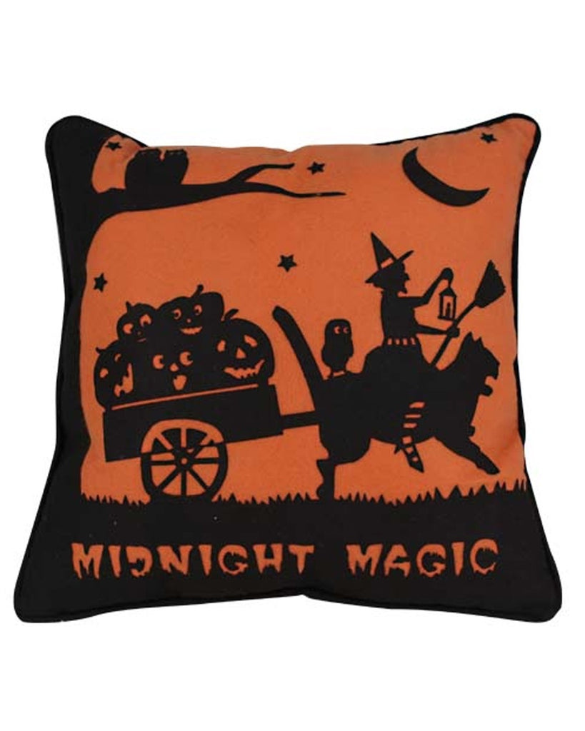 Midnight Magic Witch Accent Pillow