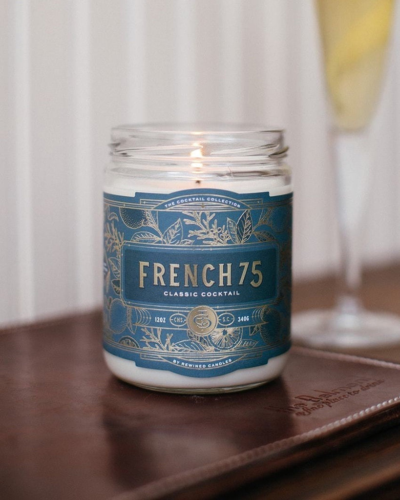 French 75 Cocktail Candle