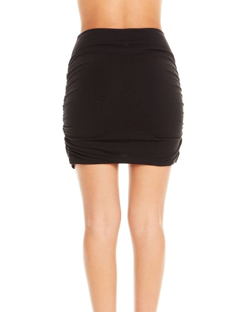Ruched Asymmetrical Mini Skirt