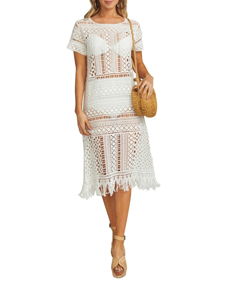Clea Crochet Cover-Up Dress
