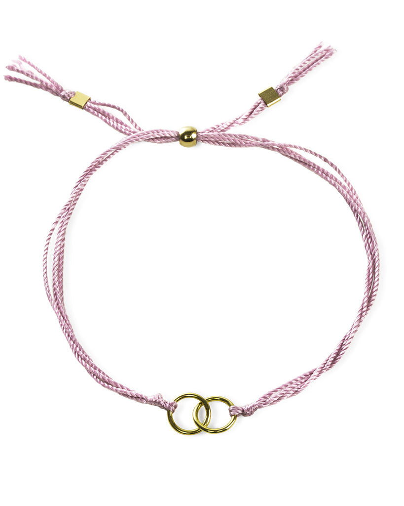 Breast Cancer Awareness Double Link Bracelet