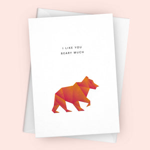 'I Like You Beary Much' Greetings Card