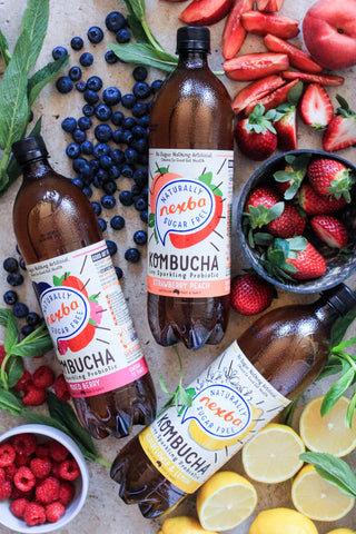 Nexba kombucha range, gut skin connection