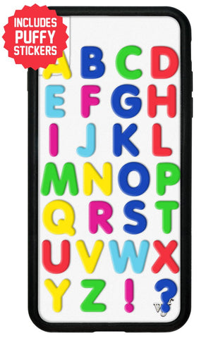 Alphabet Soup iPhone Xs Max Case Includes Stickers
