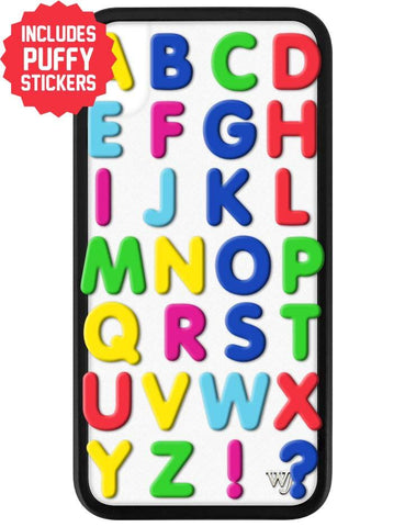 Alphabet Soup iPhone Xr Case Includes Stickers