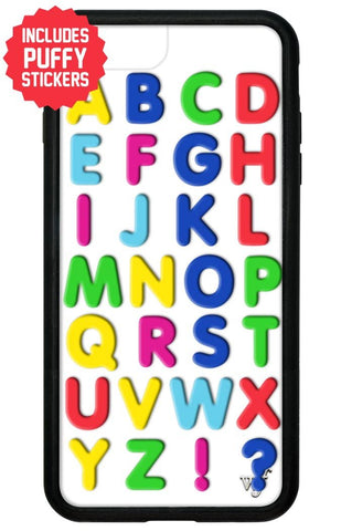 Alphabet Soup iPhone 6+/7+/8+ Plus Case Includes Stickers