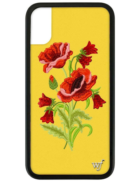 Yellow Floral I Phone X/Xs Case by Wildflower Cases