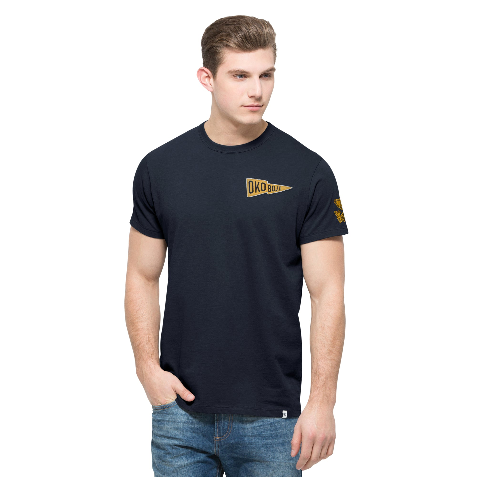OKOBOJI FALL NAVY RUNDOWN FIELDHOUSE TEE