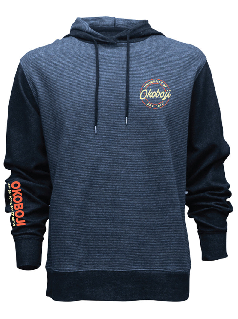 University of Okoboji Navy Headliner Light Fleece Hoodie
