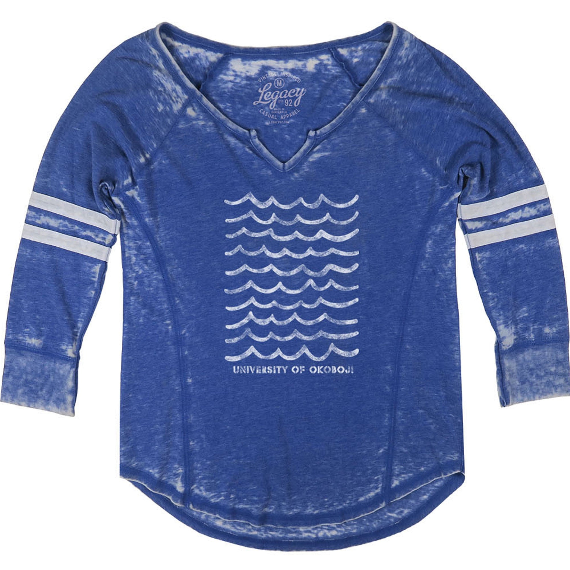 Women's Okoboji Wave 3/4 Sleeve - Royal