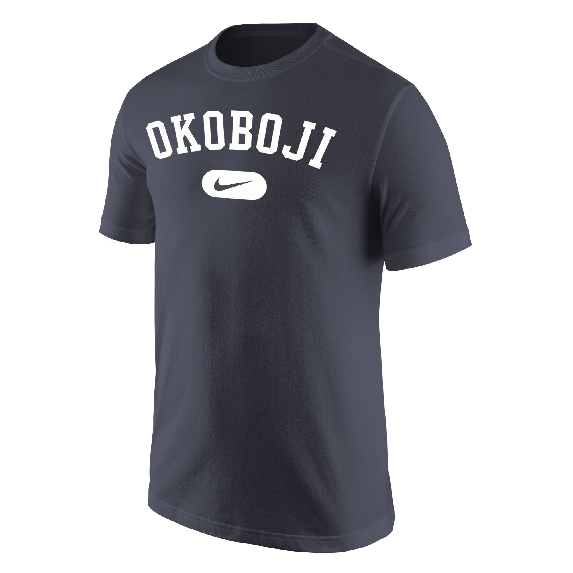 Okoboji Nike Core Cotton Short Sleeve Tee - Anthracite