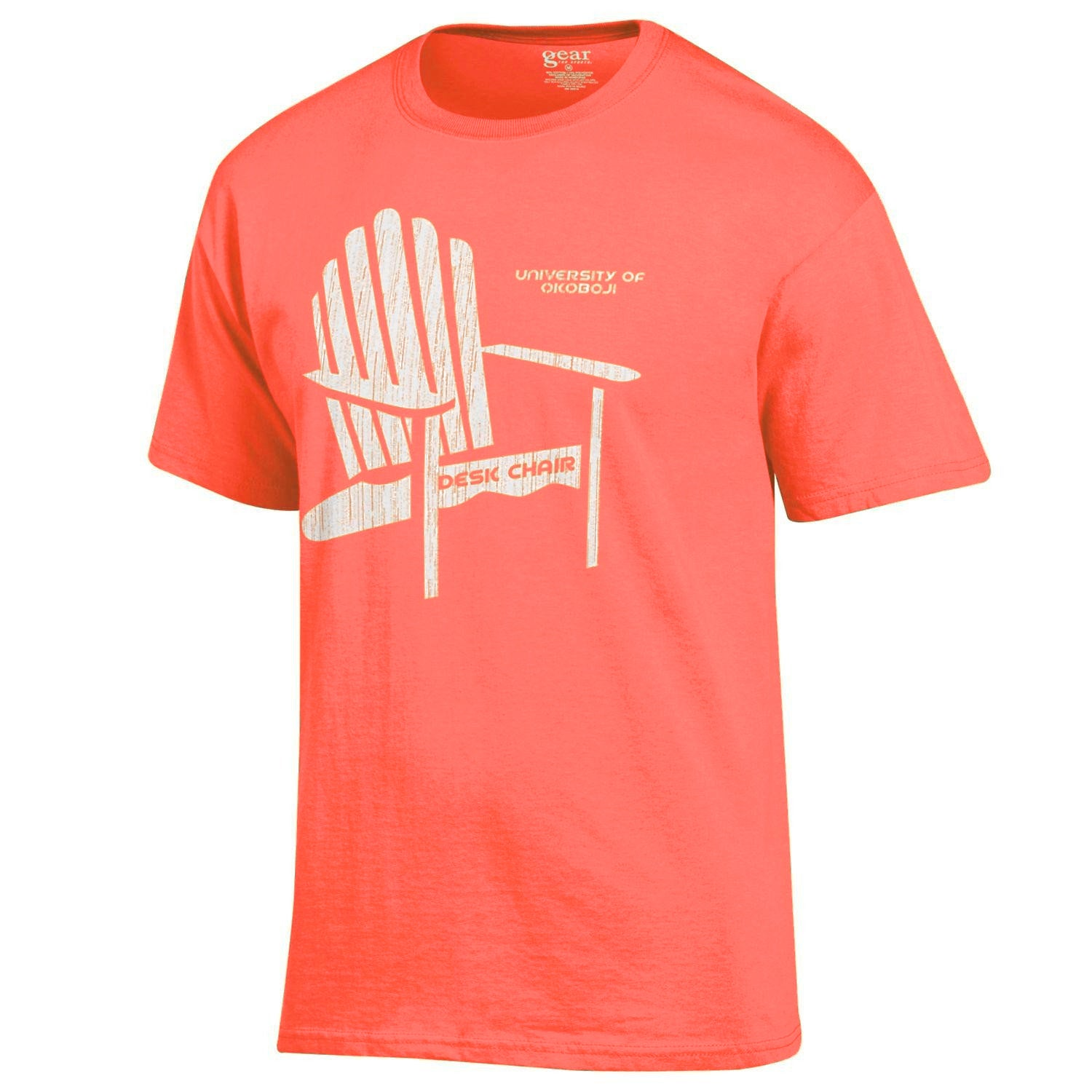 Desk Chair Tee - Barn Red