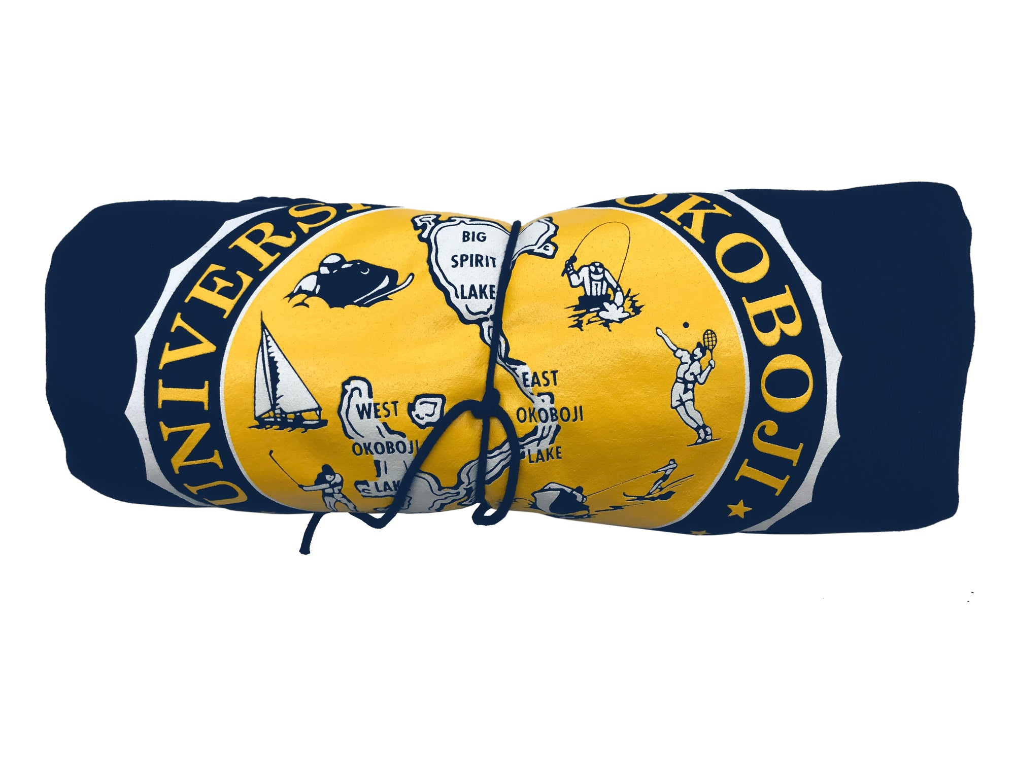The U of O Navy & Gold Sweatshirt Blanket