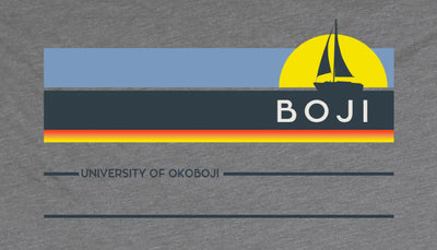 Sail Boji Vintage Tri-Blend Tee - Heather Charcoal