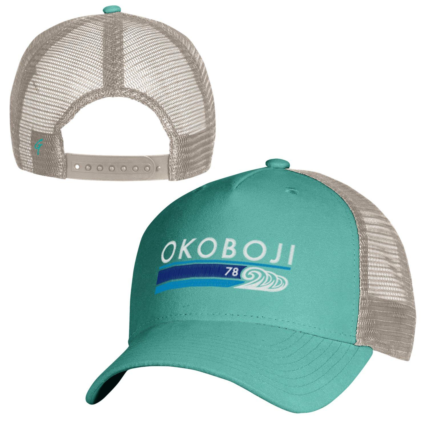 Okoboji Summer Waves - SUEDED TRUCKER