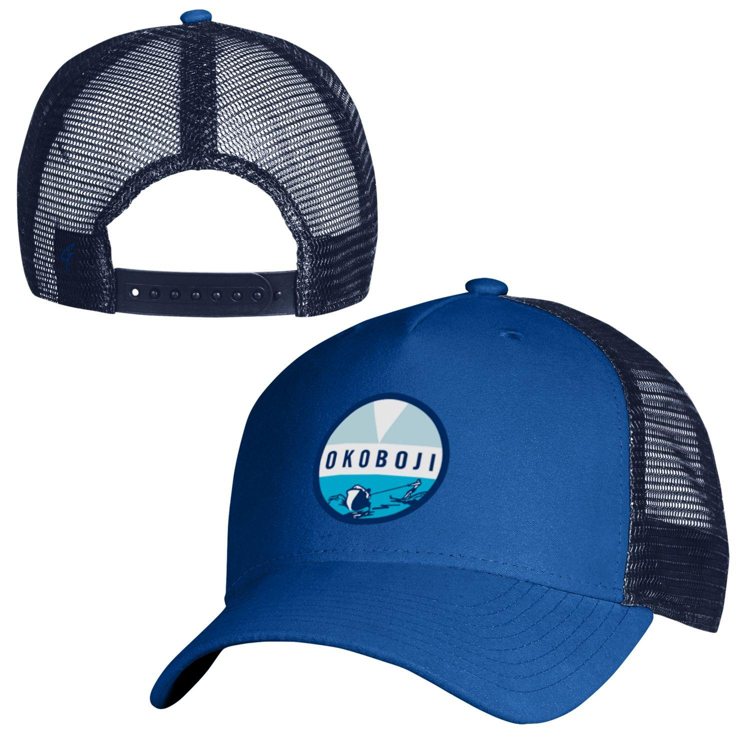 Okoboji Blue SUEDED TRUCKER