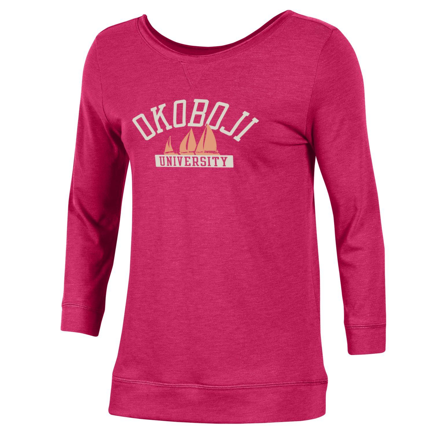 Okoboji Women's Two Scoop Tee - Dark Watermelon