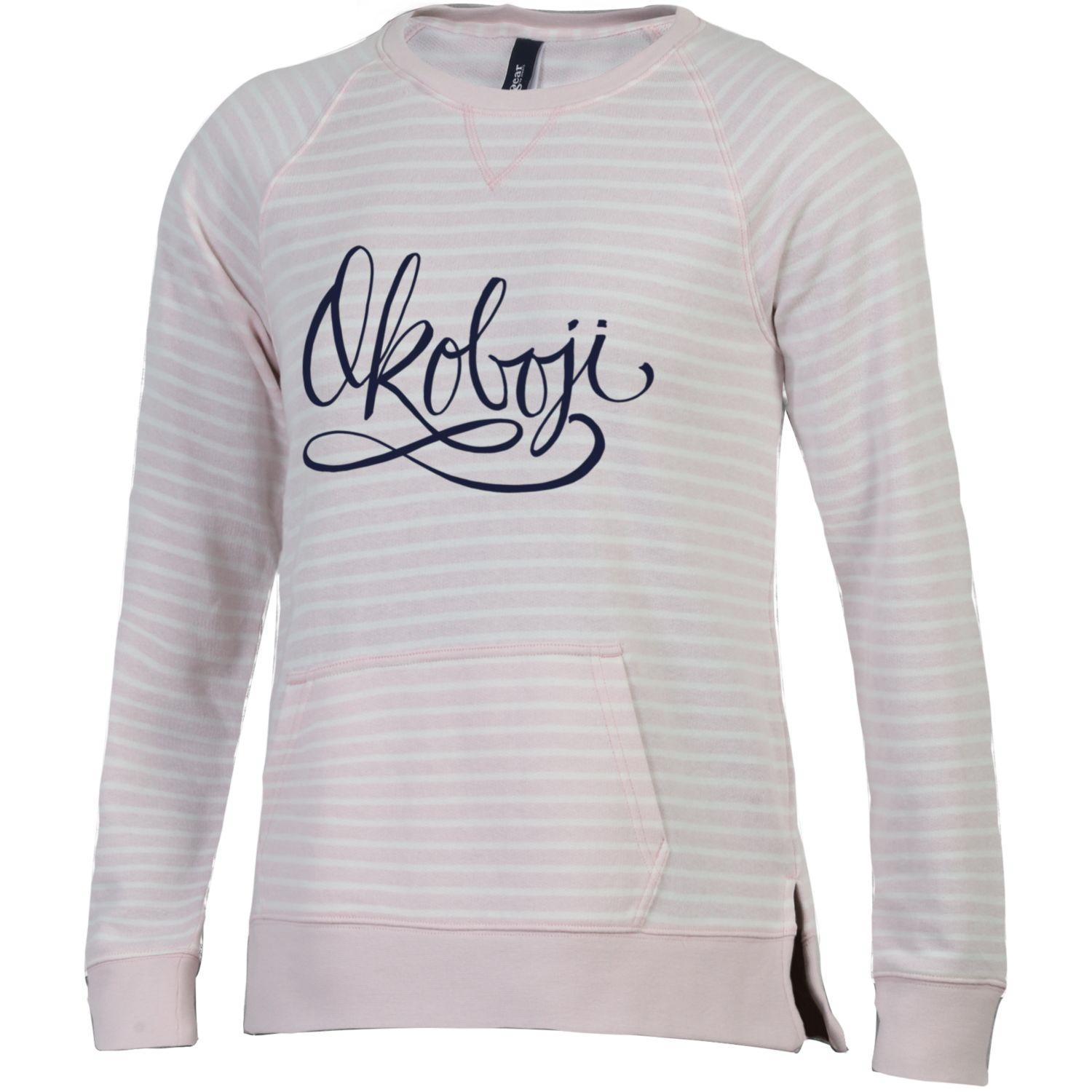 Women's Sunset Stripe Crew-Light Pink