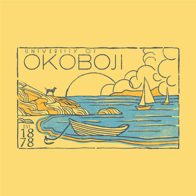 Bark Bay Okoboji - Outta Town Tee - Banana Yellow