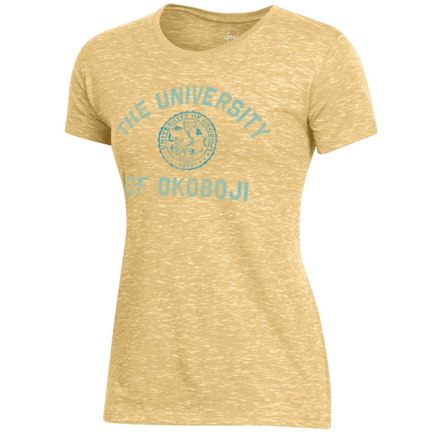 Ladies Okoboji Fireside Tee - Butter Yellow