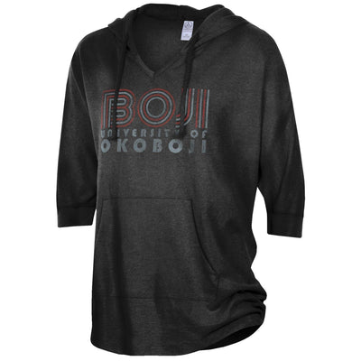 Ladies University of Okoboji Gameday Poncho - Black