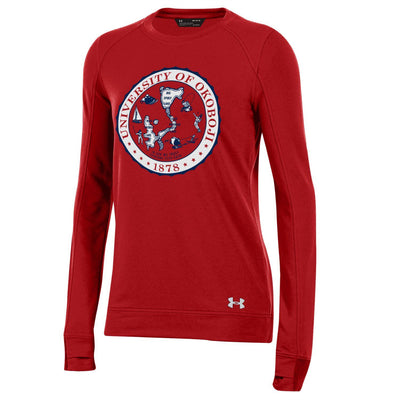 Okoboji Crest Featherweight Fleece Crew - Flawless Red