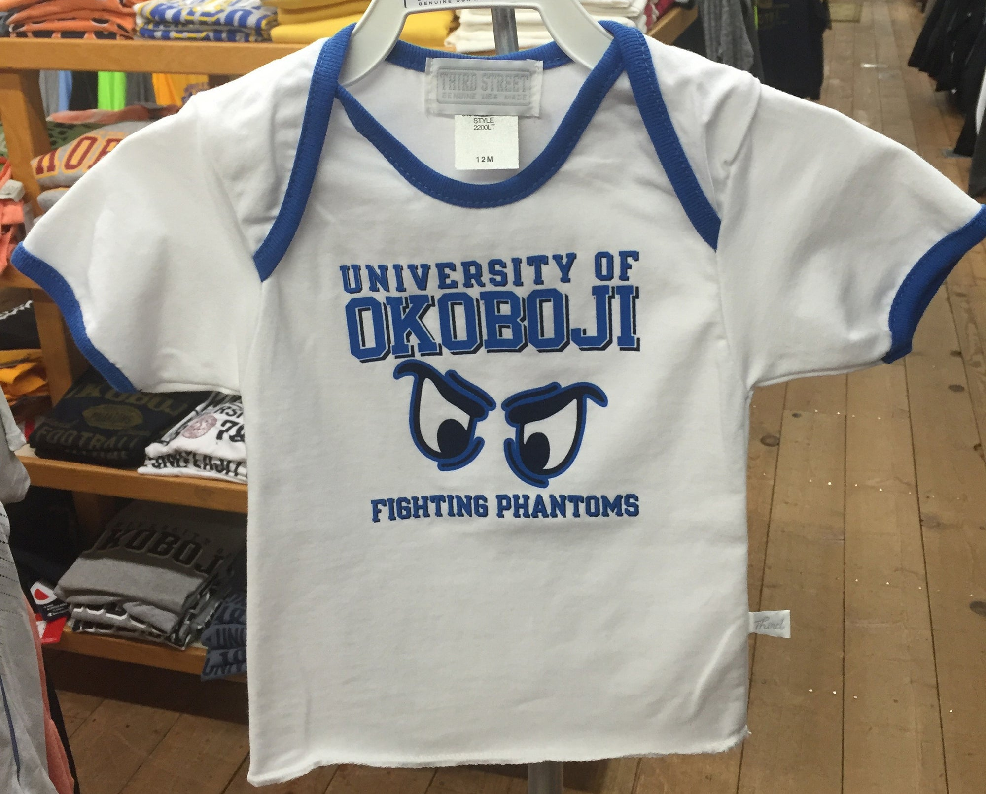 "Infant Tee ""Phantom Eyes"" - White/Blue"