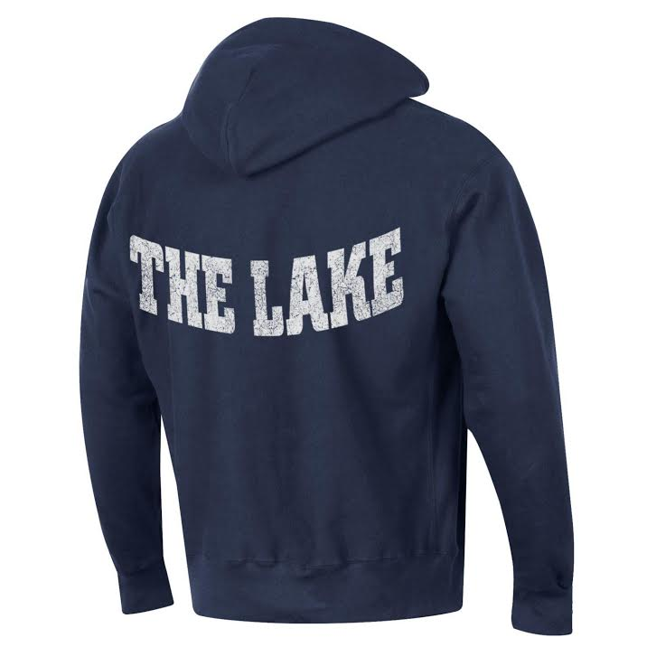 "U of O Crest Champion ""THE LAKE"" Reverse Weave Hood - Navy"