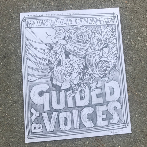 Guided By Voices original pencil drawing