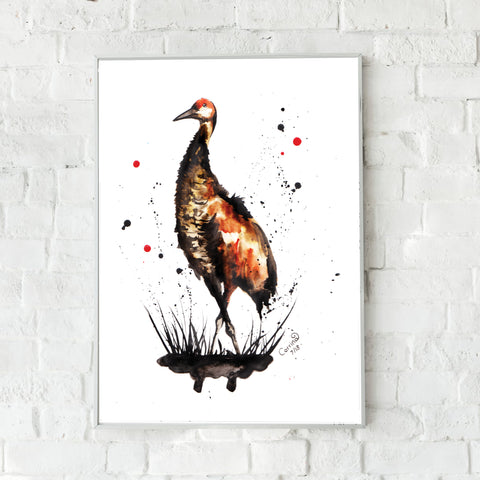 Crane Fine Art Print - perfect for any bird lover
