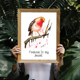Robin Fine Art Print - perfect for any bird lover and those that believe in magic