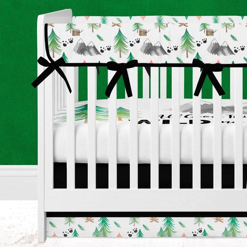 Forest Adventure Crib Bedding (3 Pcs: Rail Guards, Sheet, Skirt) Crib Bedding Modified Tot
